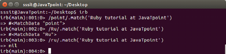 Ruby Regular expression 2