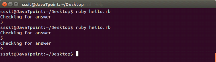 Ruby while loop 3