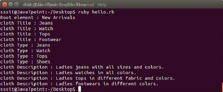 Ruby XML 2