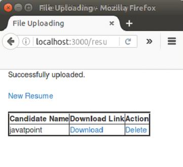 Ruby on Rails File Upload - javatpoint