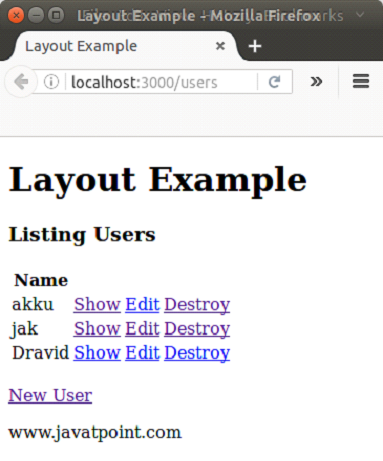 Ruby on rails Layout 3