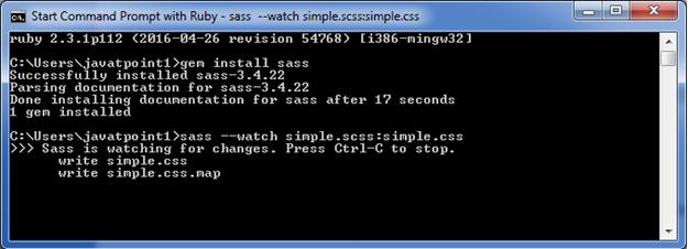 Sass Defining  mixin1