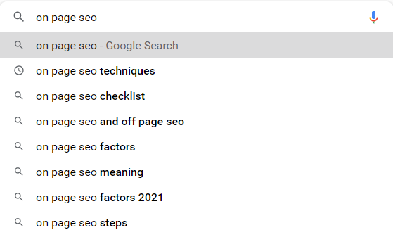 On-Page SEO Technique