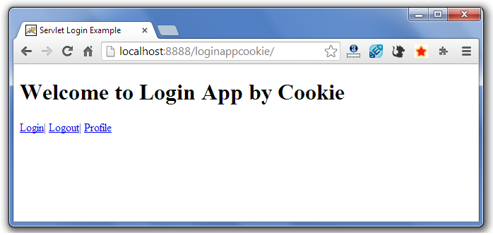 servlet cookie login example 1