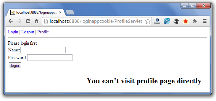 servlet cookie login example 2