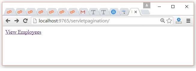 Servlet Pagination Example 1