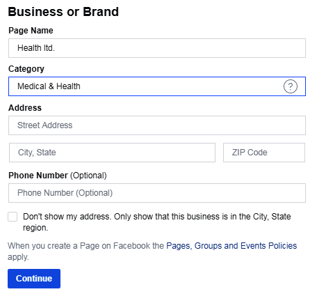 SMO How to create a Facebook Business Page