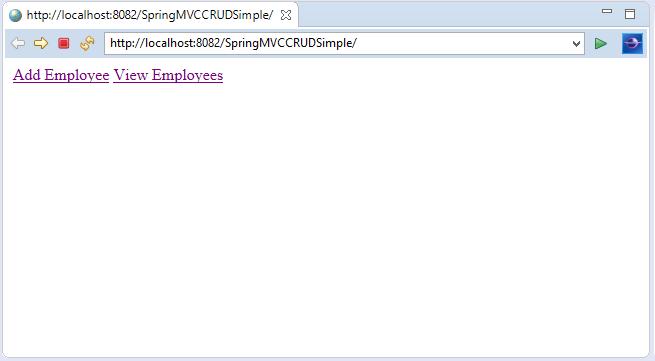 Spring MVC CRUD Example