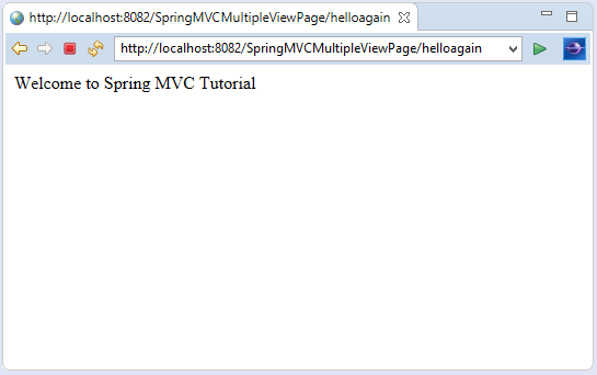 Spring MVC Multiple View page