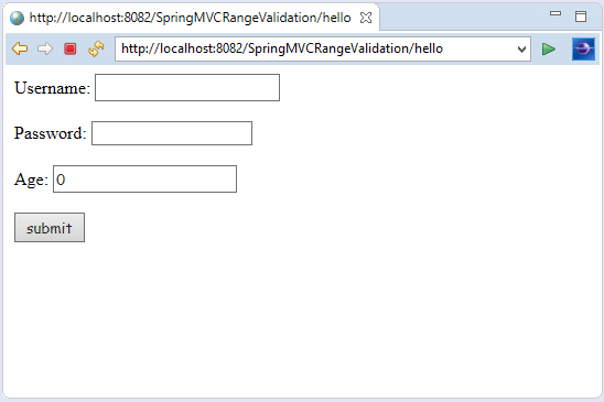 Spring MVC Number Validation