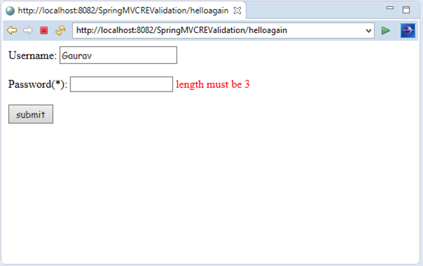 Spring MVC Regular Expression Validation - javatpoint