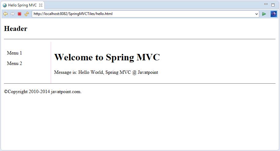 Spring MVC Tiles Example