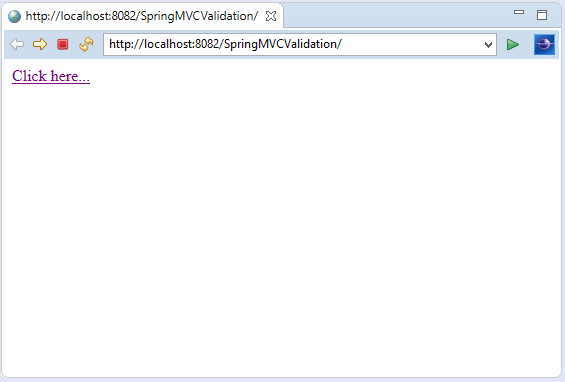 Spring MVC Validation
