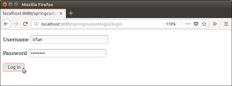 Spring Security Custom Login 5