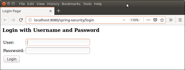 Spring Security Java Example 1