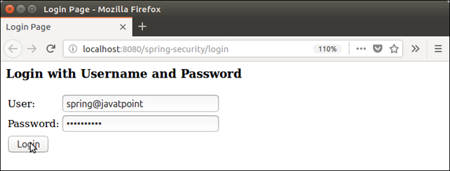 Spring Security Java Example 2