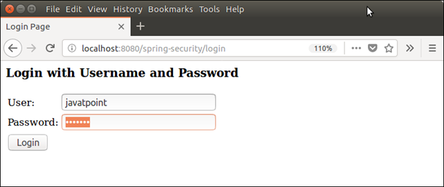 Spring Security Java Example 4