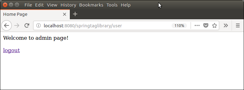 Spring Security JSP Tag Library 8