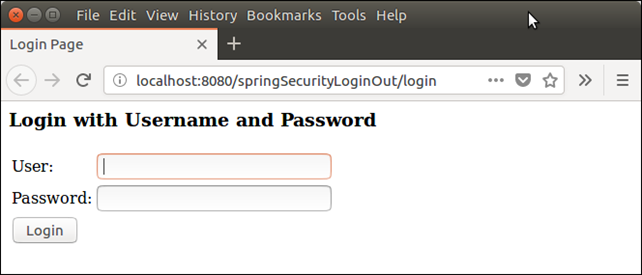Spring Security Login Logout 1