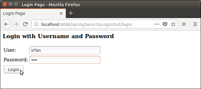 Spring Security Login Logout 2