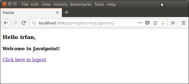 Spring Security Login Logout 3