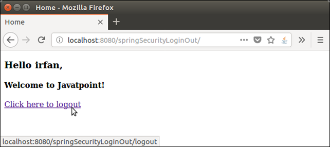 Spring Security Login Logout 4