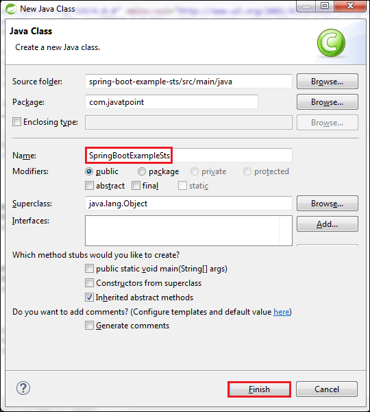 Creating Spring Boot Project Using STS