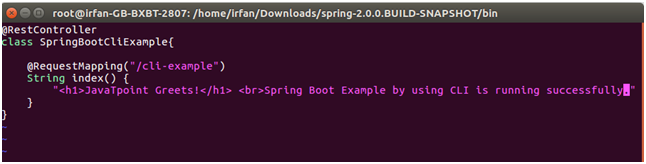 Spring Boot cli 5