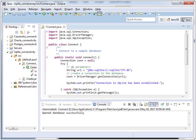 Sqlite Java with sqlite 1