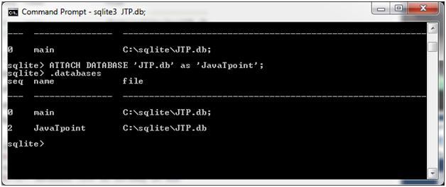Sqlite Attach database 2