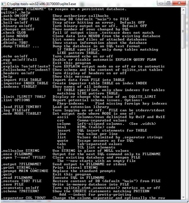 SQLite Command 1