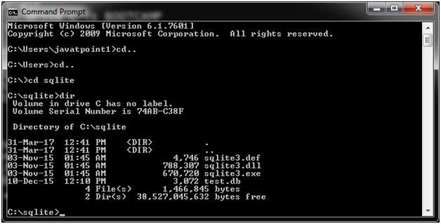 SQLite Create database 1