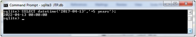 SQLite Datetime function 2