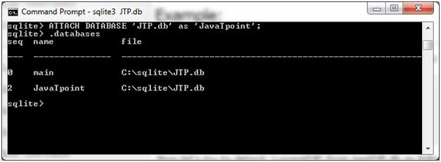 SQLite Detach database 1