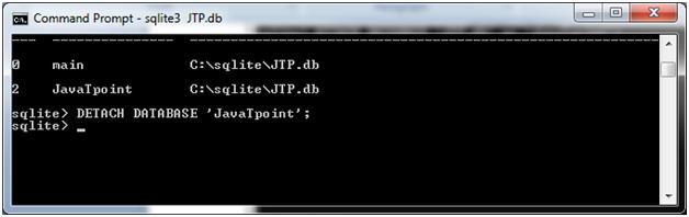 SQLite Detach database 2