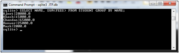 Sqlite Group by clause 2