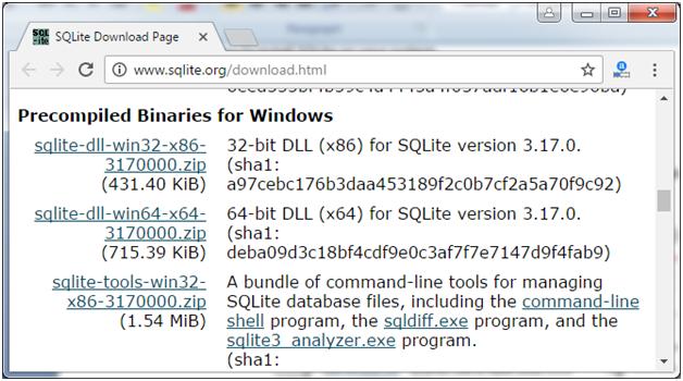 SQLite Installation 1
