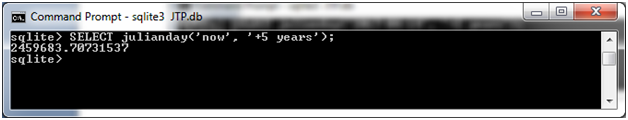 SQLite Julianday function 14
