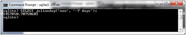 SQLite Julianday function 15