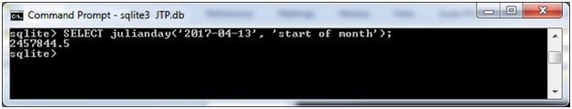 SQLite Julianday function 5