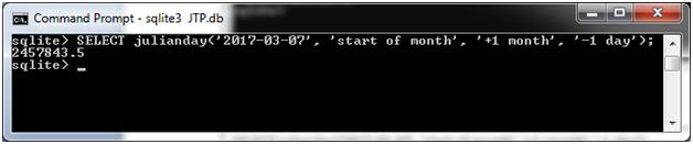 SQLite Julianday function 9