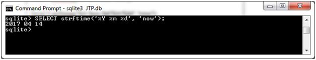 SQLite Strftime function 1