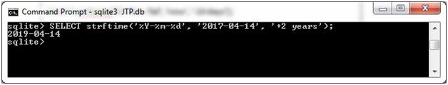 SQLite Strftime function 11