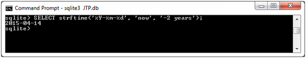 SQLite Strftime function 12