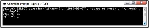 SQLite Strftime function 7