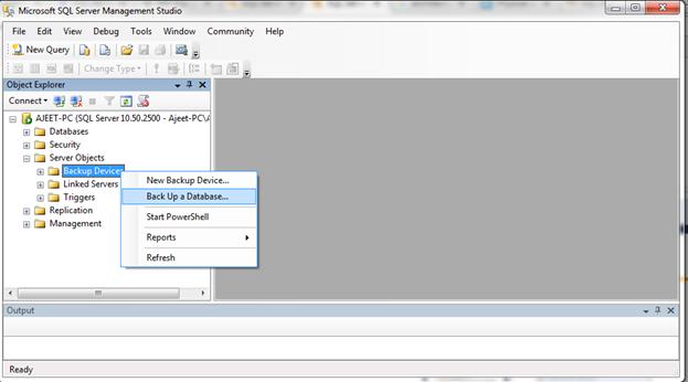 SQL Backup a database 2