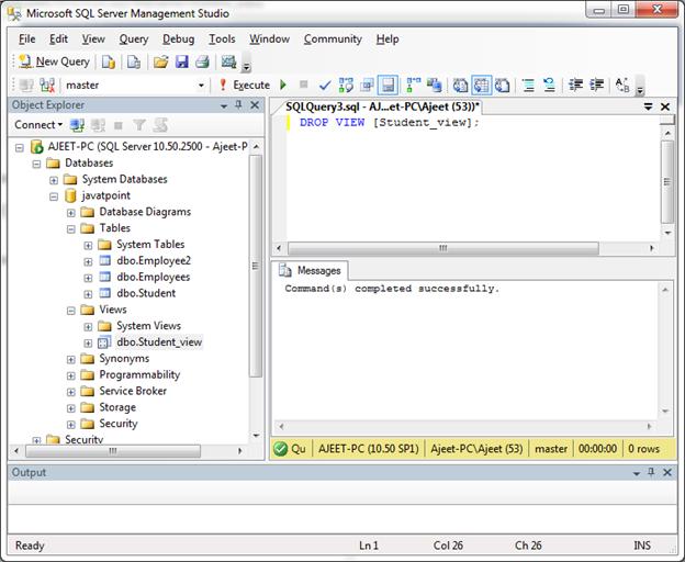 SQL Create view 10