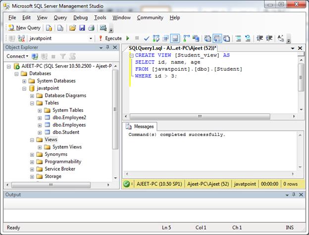SQL Create view 4