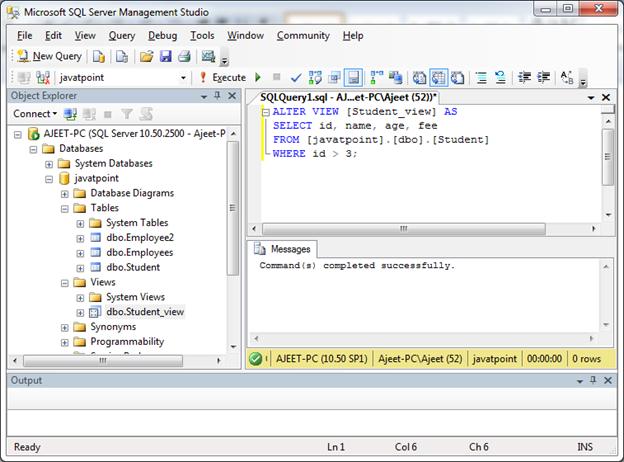 SQL Create view 7