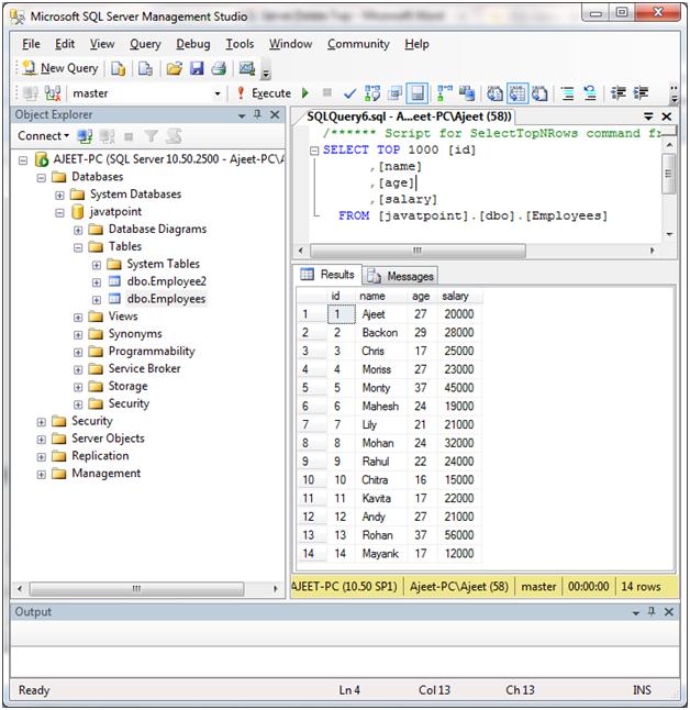 SQL Delete top statement 1